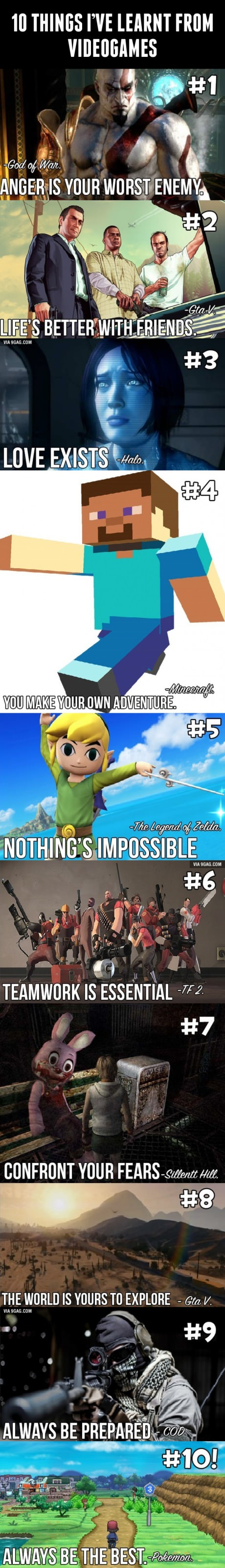 10 Thing I've Learnt From Video Games